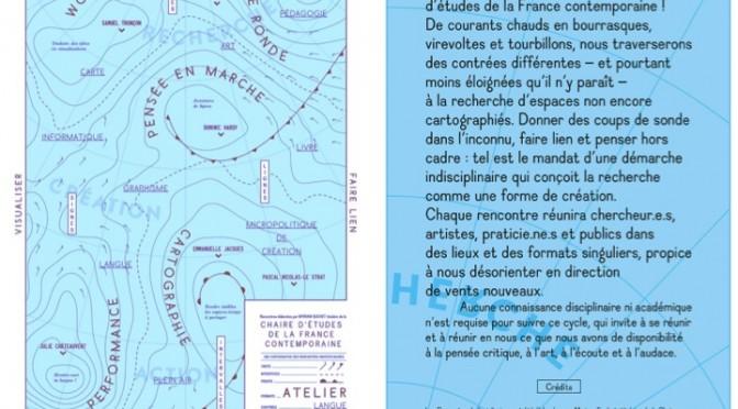 Cycle de rencontres indisciplinaires (Montréal janvier-juin 2015)
