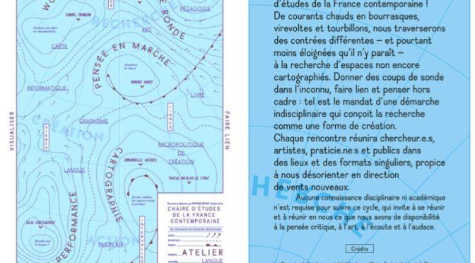 Rencontre indisciplinaire n°3: Aventures de lignes, avec Dominic Hardy au DHC-ART